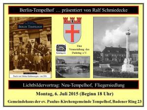 Plakat fr Neu-Tempelhof Fliegersiedlung 06.07.2015